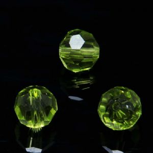 Beads, Selenial Crystal, Crystal, Olive-Green , Faceted Rounds, Diameter 8mm, 10 Beads, [ZZC128]